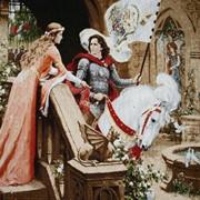 Гобелен сюжетный Возвращение рыцаря фото