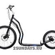 Городской самокат Yedoo Mezeq Disc New черно-синий на больших колесах фото
