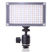 Накамерный видео свет Lishuai (Оригинал) LED-144AS (Би-светодиодная) + шарнирный держатель (LED-144A) 252 фото
