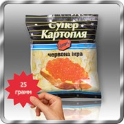 Картофельные снеки со вкусом красной икры 25 грамм фотография