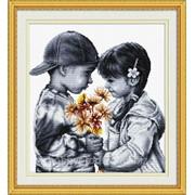"""Набор для вышивания """"Застенчивая парочка"""" 110202 фото"""
