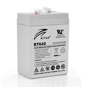 Аккумуляторная батарея AGM RITAR RT640, Gray Case, 6V 4Ah ( 70х47х99 (107) ) Q20 фото