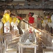 Оформление воздушными шарами юбилея фото