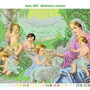 Набор для вышивания бисером Мадонна и ангелы фото