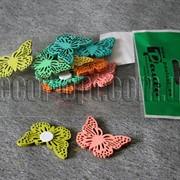 Бабочки на липучке 4х2,7см/12 шт. 6454 фото