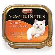 Animonda 100г конс. Vom Feinsten Adult Влажный корм для взр кошек Домашняя птица и телятина фото