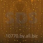 """Гирлянда """"Светодиодный Дождь"""" 2х1,5м, постоянное свечение, прозрачный провод, 220В, диоды ЖЁЛТЫЕ фото"""