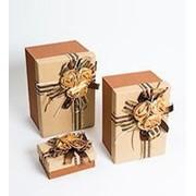 "Коробка подарочная ""Три розы"" фото"