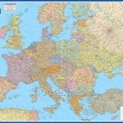 Европа. Карта автомобильных дорог фото