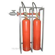 Модуль газового пожаротушения МГП-2-60И коллектор DN50 фото