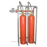 Модуль газового пожаротушения МГП-2-100И коллектор DN32 фото