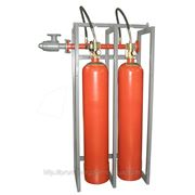Модуль газового пожаротушения МГП-2-100И коллектор DN70 фото