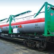 60-футовая вагон-платформа для перевозки крупнотоннажных контейнеров фото
