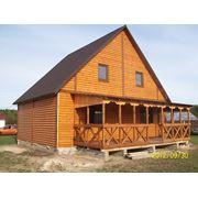 Каркасный деревянный сборный,перевозимый котедж. фото