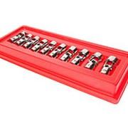 Набор головок торцевых с карданом 3/8 6-гранных 10-19мм (в кейсе) 10 предметов фото