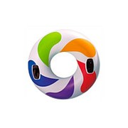 """Круг для плавания """"Цветной вихрь"""" с ручками 118см Intex 58202 фото"""