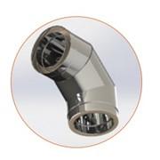 Колено с теплоизоляцией 90 н / н, 0,5 мм, диаметр (ф120 / 180) фото