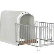 Индивидуальный домик для телят с ограждением вариант 2 фото