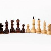 Фигуры шахматные турнирные d=30-35мм, высота 55-107мм фото
