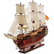 """Модель испанского линейного корабля 1784г. """"Santa Ana"""" 90х75х29см. арт.SPK-09 фото"""