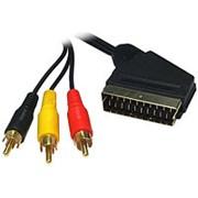Аудио-видео кабель видеовыход с разъёма SCARTшт. на 3RCAшт. Selenga - 1.5 метра фото