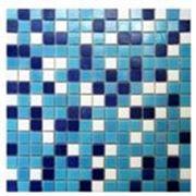 Мозаика китайская стеклянная Багама темная микс для бассейна