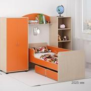 Детская комната Легенда 25 венге светлый/оранж фото