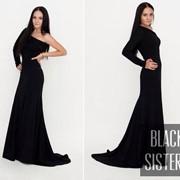 Платье женское черное фото