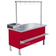 Прилавок холодильный среднетемпературный ПХС-1,25/0,85 (мясной, под выносное холодоснабжение с креплением для фото