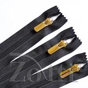 Молния пластиковая, черная, бегунок №71 - 40 см фото