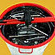 Медогонка 2-х рамочная поворотная Бак и кассеты нержавеющие (кассеты сварные) фото