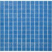 Одноцветная стекломозаика A 63 синяя фото