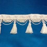 Бахрома для штор декоративная белая 3011 S6 К 48 фото