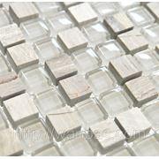 Китайский микс мозаика из стекла и мрамора DAF 14 фото