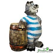 Фигура Кот с бочкой фото