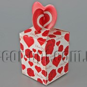 Коробочка с розами 5,5х5,5х12см 6323 фото