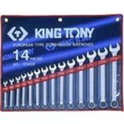 """Набор ключей рожково-накидных 14 ед дюйм (5/16 до 1-1/4"""") (уп.1) ( King Tony ) фото"""