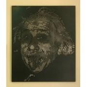 Портреты из перфорированного металла фото