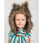 Детская меховая ушанка с ушками4 фото