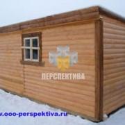 Бытовка деревянная 6 x 2.3 с отделкой хвойной вагонкой фото