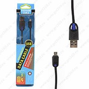 USB Data Кабель Black 1m Micro USB Blue (Синий) фото