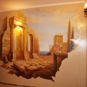 Роспись, лепка, картины, водопады, фонтаны, декоративные элементы фото