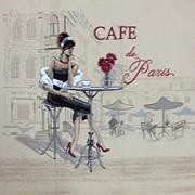 Картина Брюнетка в парижском кафе фото