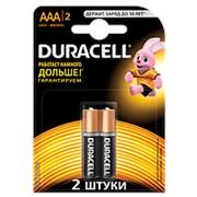 Батарейки DURACELL Basic AAA алкалиновые 1.5V LR03 2 шт. 81528141 фото