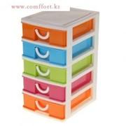 Мини-комод для мелочей 5 секций 17,5*13,5*25 см, микс цвета фото