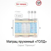 Матрац пружинный Голд 200х160 фото