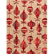 """Упаковочная бумага Феникс """"Красные шары"""",1 лист 70 х 100 см.,80 г/м2, крафт, фольгир.тисн., 76690 фото"""