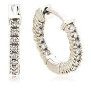 Серьги стильное с бриллиантами SI1/G 0.65 Ct фото