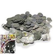 Конфетти фольгированное Круги серебро 2см 100гр фото