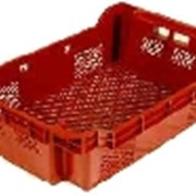 Стыкующийся и складывающийся пластиковый лоток 600х400х240 фото